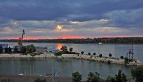 Donau-Landschaften Stockfotografie