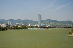 Donau landschap-Wenen Stock Foto