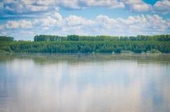Donau, nahe Calafat, Rumänien stockbilder