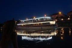 At the Donau Royalty Free Stock Photo