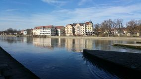 Donau river. In regensburg Stock Images