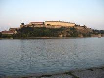 Donau, Rivier Vesting, Perovaradin, Novi Sad, Beaufiful, Zonsondergang royalty-vrije stock fotografie