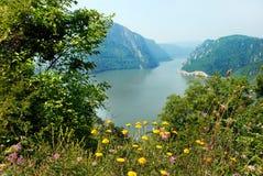 Donau-Schlucht stockfotografie
