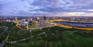 Donau-Stadt Wien bei der Donau Lizenzfreies Stockfoto