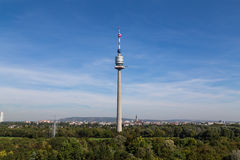 Donau Tower and Donau Park During the Day Royalty Free Stock Photography