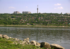 Donau in Turtucaia (Bulgarije) Royalty-vrije Stock Fotografie