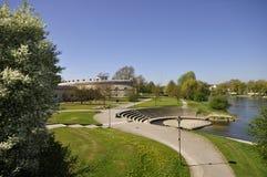 Donau und Reduit Tilly in Ingolstadt Lizenzfreies Stockfoto