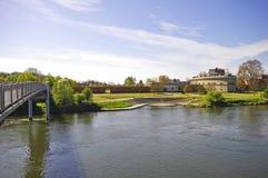 Donau und Reduit Tilly in Ingolstadt Stockbild
