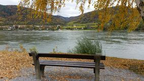 Donau, wachau, Oostenrijk in de herfst Stock Fotografie