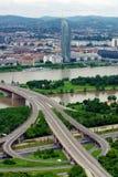 Donau in Wenen Stock Fotografie