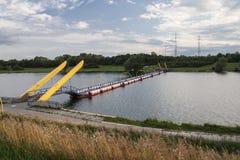 Donau in Wien, Donaukanal, Österreich Stockbilder