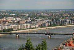 Donaubro, Budapest, Ungern Fotografering för Bildbyråer