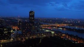 Donaucity en Viena, Austria almacen de metraje de vídeo