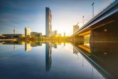 Donaucity i Wien fotografering för bildbyråer