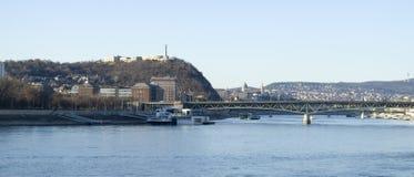 Donauen och Budapest Royaltyfri Fotografi