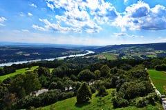 Donaupanorama i Wachau Arkivfoton