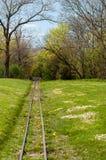 Donaupark Wenen Spoorweg Stock Afbeelding