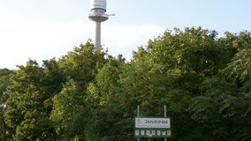 The Donauturm tower in Vienna stock video footage