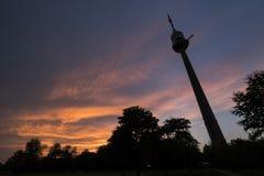 Donauturmtoren in Wenen Stock Foto's
