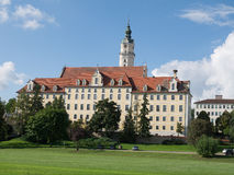 Donauworth,一个典型的巴法力亚城市在德国 免版税库存照片