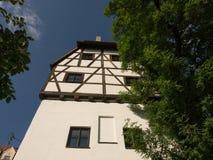 Donauworth en typisk bavarianstad i Tyskland Arkivbild