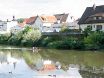 Donauworth, a typical bavarian city in Germany Stock Photos