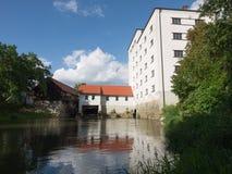 Donauworth, una ciudad bávara típica en Alemania Foto de archivo libre de regalías