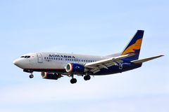 Donavia Boeing 737 Photographie stock libre de droits