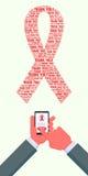 Donazione dei soldi di Giornata mondiale contro l'AIDS Fotografia Stock