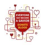 Donazione di sangue infographic illustrazione di stock