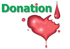 Donazione rosso sangue Fotografie Stock Libere da Diritti