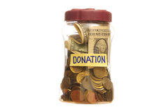 Donazione in un vaso Fotografia Stock Libera da Diritti