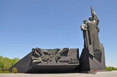 Donbass救星纪念碑 免版税库存图片