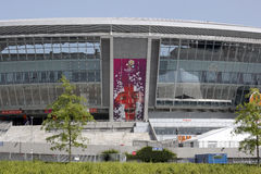 Donbass Arena. DONETSK, UKRAINE - 23 MAY 2012: Donbass Arena stadium is ready for the UEFA EURO 2012 Stock Image