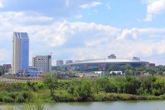 Donbass arena i swój otoczenia Zdjęcia Royalty Free