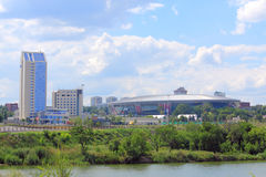 Donbass arena and its surroundings Royalty Free Stock Photos