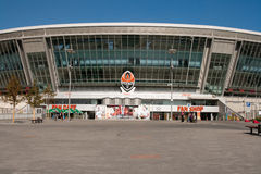 Donbass Arena: Ready for EURO 2012. Donbass Arena is a Ukrainian stadium with a natural grass pitch in Donetsk, Ukraine that opened on 29 August, 2009. The Royalty Free Stock Photography