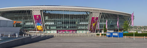 Donbass-Arena is ready for EURO 2012 Stock Photos