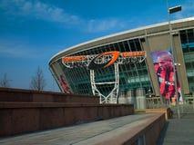 Donbass Arena stadium. DONETSK, UKRAINE Donbass Arena stadium Ukraine. The stadium hosts Football Club Shakhtar Donetsk and will host UEFA EURO Championship in Royalty Free Stock Image