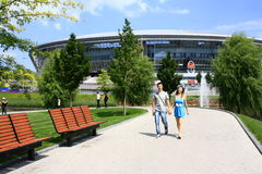 Donbass-Arena - Stadium. Donetsk, Ukraine - June 9: Donbass-Arena - Stadium June 9, 2012 in Donetsk, Ukraine. Euro 2012 matches will be played here Stock Photo