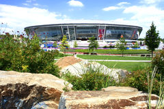 Donbass-Arena - Stadium. Donetsk, Ukraine - June 9: Donbass-Arena - Stadium June 9, 2012 in Donetsk, Ukraine. Euro 2012 matches will be played here Stock Image
