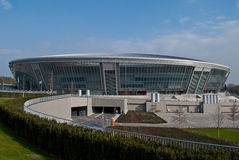 Donbass-arena stadium. Stadium Donbass-arena in the Donetsk, Ukraine Stock Photos