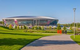 Donbass Arena stadium. DONETSK, UKRAINE - APRIL 06: Donbass Arena stadium on April 06, 2012 in Donetsk, Ukraine. The stadium hosts Football Club Shakhtar Donetsk Royalty Free Stock Image