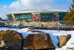 Donbass arena stadium. DONETSK, UKRAINE - CIRCA WINTER 2011: Donbass Arena stadium circa winter 2011 in Donetsk, Ukraine. The stadium hosts Football Club Royalty Free Stock Image