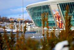 Donbass arena stadium. DONETSK, UKRAINE - CIRCA WINTER 2011: Donbass Arena stadium circa winter 2011 in Donetsk, Ukraine. The stadium hosts Football Club Stock Photo