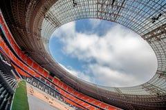 Donbass Arena Stadium in Donetsk, Ukraine. DONETSK, UKRAINE - MARCH 11: Newly built Donbass Arena stadium for 50000 spectators. The stadium was built Stock Photography