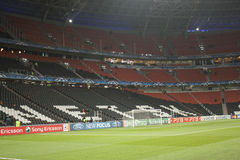 Donbass Arena stadium an hour before the match Stock Photo
