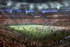 Donbass arena stadium, opening in Donetsk Royalty Free Stock Photography