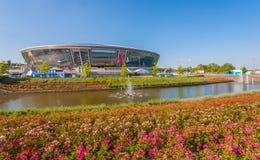 Donbass arenastadion Arkivbild