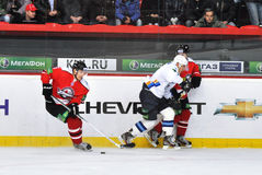 Donbass hockey team beats rival Stock Photography